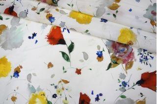 Батист белый цветы PRT1 21031901
