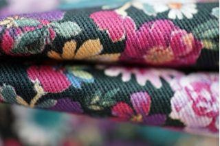 Плательная джинса цветы PRT-А4 24031924