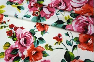Трикотаж вискозный цветочный Anna Rachele PRT-D2-013  28031921