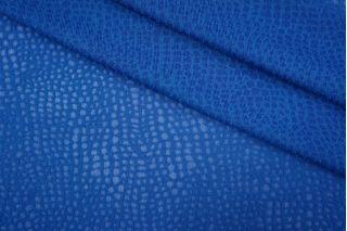 Трикотаж вискозный ажурный синий PRT-D3 02051901