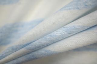 Тонкий трикотаж в полоску бело-голубой PRT-D2 02051903