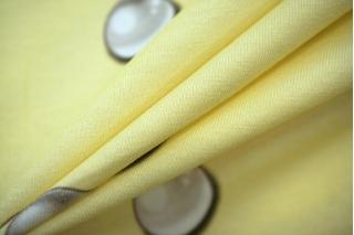 Трикотаж хлопковый жемчужинки на бледно-желтом PRT-D6 04051918
