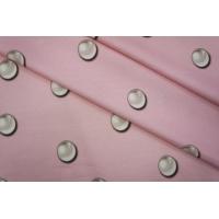 Трикотаж хлопковый жемчужинки на розовом PRT-D5 09051932