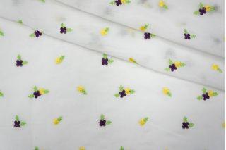 Батист шелковый с вышивкой маленькие цветочки PRT 040-А3 22031908