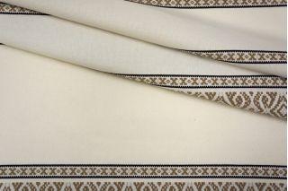 Костюмный хлопок белый с орнаментом PRT-H7 24031909