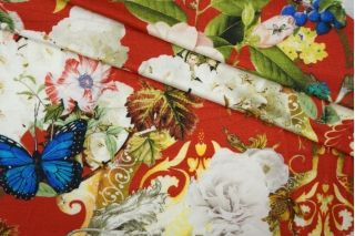 Трикотаж вискозный цветы и бабочки Cavalli PRT-D2-019 28031904