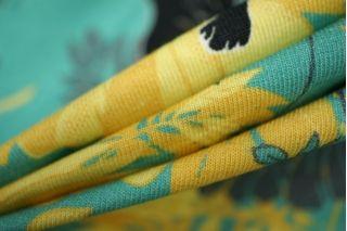 Трикотаж хлопковый цветы и обезьяны Cavalli PRT-D3 28031907