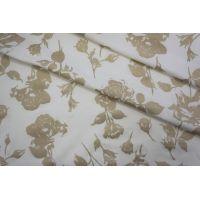 Тонкий трикотаж белый с золотыми цветами PRT-X6 04051920