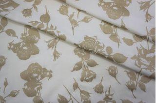 Тонкий трикотаж белый с золотыми цветами PRT-D6 04051920