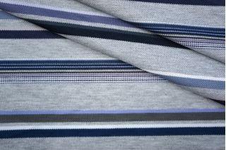 Трикотаж вискозный синий в полоску PRT-D3 05051912
