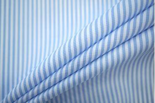 Поплин сорочечный полоска бело-голубая PRT-B2 21051911