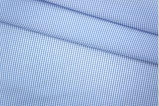 Поплин сорочечный клетка бело-голубая PRT-B2 21051912