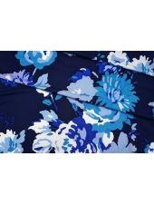 Трикотаж вискозный синие цветы КУПОН PRT-H2 05051932
