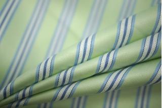 Хлопок рубашечный в полоску светло-зеленый PRT-B3 01051903