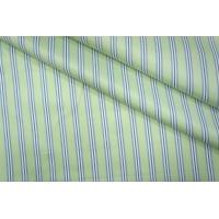 ОТРЕЗ 1.8 М Хлопок рубашечный в полоску светло-зеленый PRT-B3 01051903-1