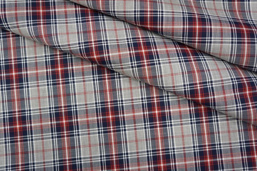 ОТРЕЗ 2,1 М Рубашечный тонкий хлопок в клетку PRT-B3 01051904-1