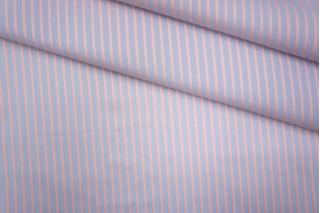 ОТРЕЗ 1 М Хлопок рубашечный в полоску лаванда-персиковый PRT-B2 01051905-1