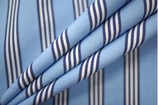 Поплин сорочечный полоска сине-голубая PRT-B2 01051914