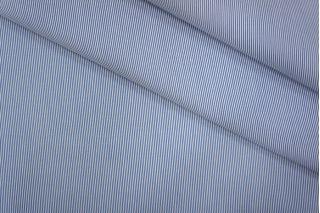 Хлопок плательный в полоску бело-синий PRT-B2 01051936