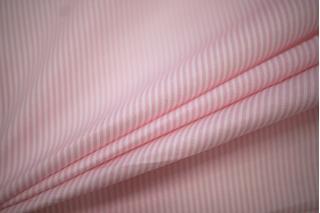Поплин сорочечный полоска бело-розовая PRT-B2 01051937