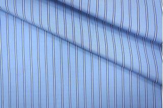 Поплин сорочечный полоска сине-голубая PRT-B2 01051938