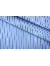ОТРЕЗ 2.95 М Поплин сорочечный полоска сине-голубая PRT-B2 01051938-2