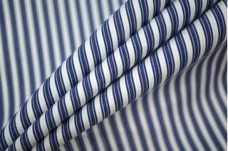 Поплин сорочечный полоска сине-белая PRT-B3 02051912