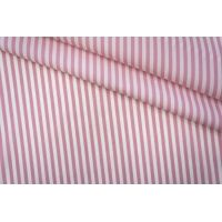 Поплин сорочечный полоска бело-розовая PRT-B2 03051922