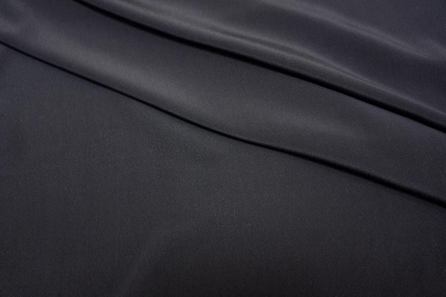 Крепдешин шелковый темно-синий PRT1-С2 21071706