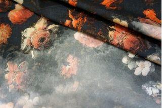 Микровельвет плательный хлопковый с принтом КУПОН  PRT-D3 11031716