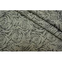 Жаккард цветы теплый серый LT1-J3 2211609