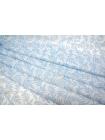 Батист с принтом голубые листья MX1-B3 8021601