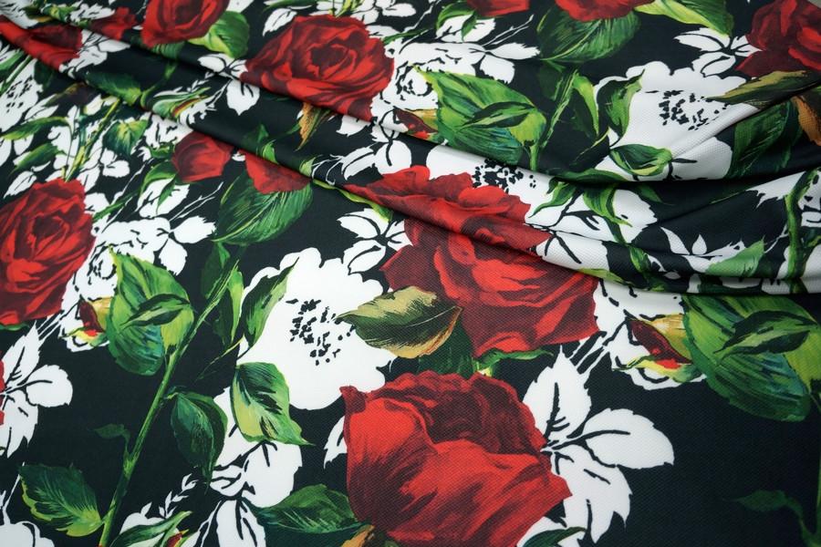 Трикотаж фактурный розы UAE-H3 27121728
