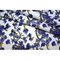 Жаккард цветы на белом MX1-A7 28071701