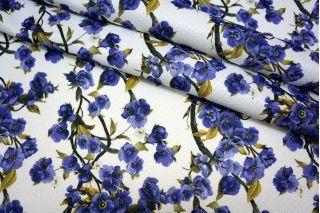 Жаккард цветы на белом MX1 28071701