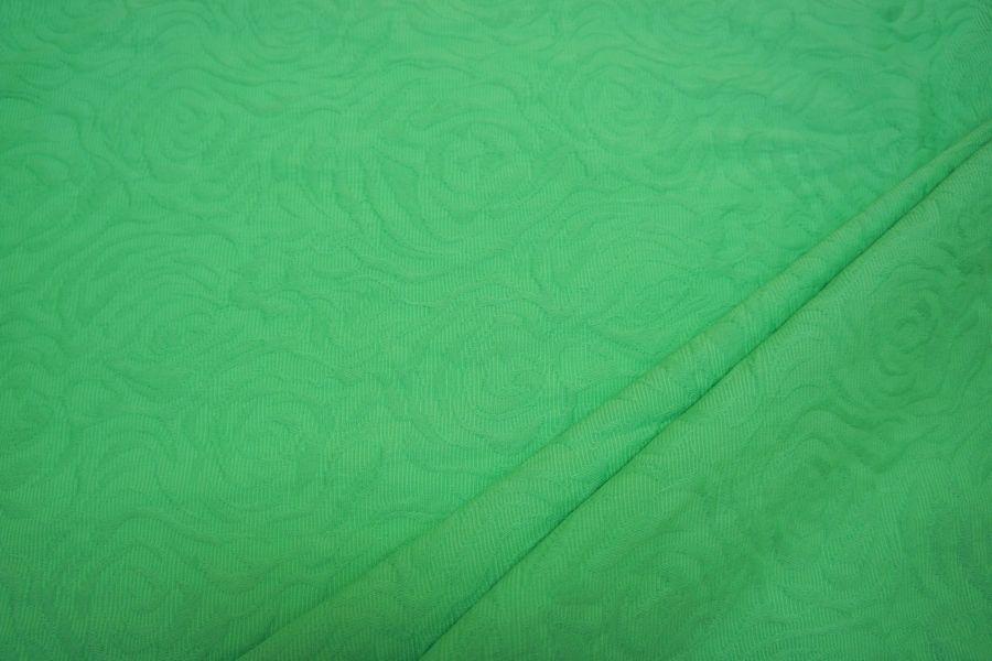 Жаккард-стрейч хлопковый салатовый LT 047-J4 14111607