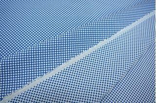Жаккард-стрейч двусторонний синий-белый LT1-J4 14111613