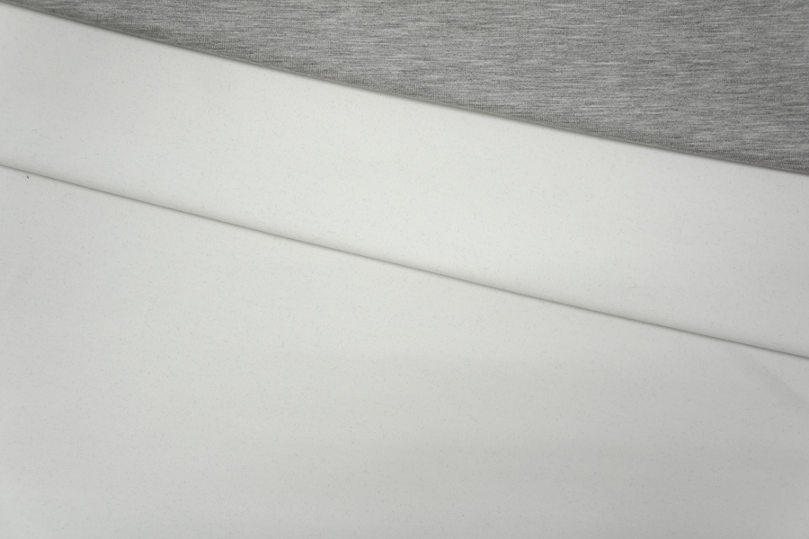 Трикотаж двухслойный двусторонний серо-белый PRT-N5 10081910
