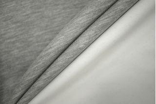 Трикотаж двухслойный двусторонний серо-белый PRT-D5 10081910