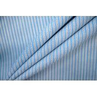 ОТРЕЗ 2,8 М Тонкая костюмная шерсть в полоску голубая PRT-(43)- 22081942-1
