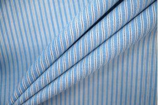 Тонкая костюмная шерсть в полоску голубая PRT-Т4 22081942