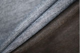 Трикотаж шерстяной двусторонний серо-коричневый PRT-X6 27081902