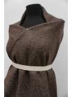 Костюмная шерсть букле серо-коричневая PRT-I2 14111916