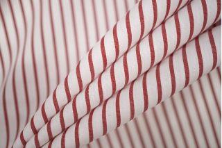 Поплин сорочечный в полоску красно-белую PRT-B2 22081939