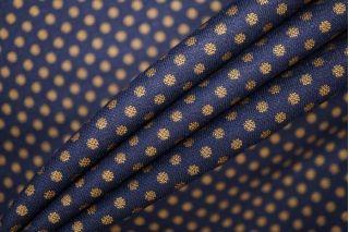 Трикотаж поливискозный темно-синий в мелкий горошек PRT-W5 30081901