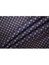 Трикотаж поливискозный темно-синий в мелкий горошек PRT 30081901