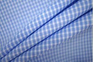 Рубашечный хлопок в клетку голубой PRT-B2 30081905