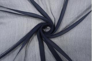 Шифон шелковый-креш темно-синий  PRT-ВВ4 05121919