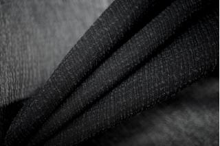 Шифон шелковый-креш черный PRT-C5  05121920