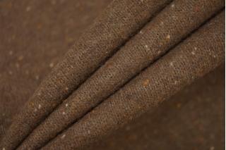 Трикотаж шерстяной коричневый в крапинку PRT-D2 08121909
